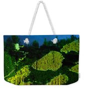 Abstract Art Projection Over Night Nature Scenery Weekender Tote Bag