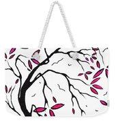 Abstract Artwork Modern Original Landscape Pink Blossom Tree Art Pink Foliage By Madart Weekender Tote Bag