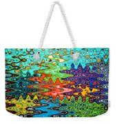 Abstract Background With Bright Colored Waves 1 Weekender Tote Bag