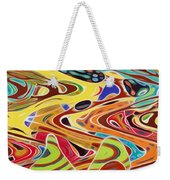 Abstract Background With Bright Colored Waves 17 Weekender Tote Bag
