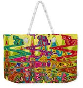 Abstract Background With Bright Colored Waves 5 Weekender Tote Bag
