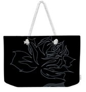 Abstract Black Rose  Weekender Tote Bag