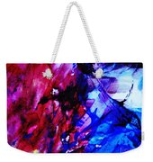 Abstract Blue And Pink Festival Weekender Tote Bag by Andrea Anderegg