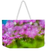 abstract Blurry pink flower background for backgrounds Weekender Tote Bag