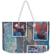 Abstract Branch Collage Trio Weekender Tote Bag