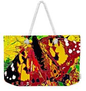 Abstract Butterfly #3 Autumn Weekender Tote Bag