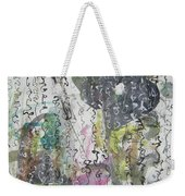 Abstract Calligraphy Art Painting Black Pink Green Gray Art Spring Color Painting Rice Paper Art Sjk Weekender Tote Bag