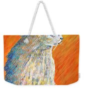 Jazzy Abstract Cat Weekender Tote Bag