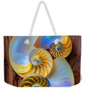 Abstract Chambered Nautilus Weekender Tote Bag