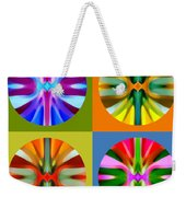 Abstract Circles And Squares 1 Weekender Tote Bag