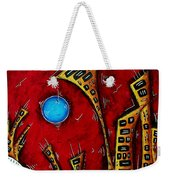 Abstract City Cityscape Art Original Painting Stand Tall By Madart Weekender Tote Bag
