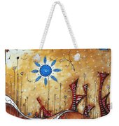 Abstract City Cityscape Contemporary Art Original Painting The Lost City By Madart Weekender Tote Bag