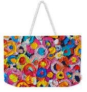 Abstract Colorful Flowers 1 - Paint Joy Series Weekender Tote Bag