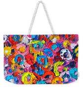 Abstract Colorful Flowers 3 - Paint Joy Series Weekender Tote Bag