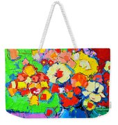 Abstract Colorful Flowers Weekender Tote Bag