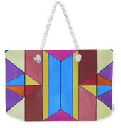 Abstract Colorful Stained Glass Window Design  Weekender Tote Bag