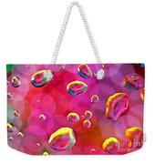 Abstract Colorful Water Drops Weekender Tote Bag
