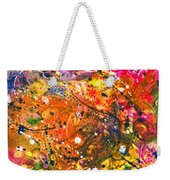 Abstract - Crayon - The Excitement Weekender Tote Bag by Mike Savad