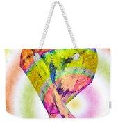 Abstract Crazy Daisies - Flora - Heart - Rainbow Circles - Painterly Weekender Tote Bag