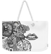Abstract Drawing #1 - Young Woman Weekender Tote Bag