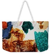 Abstract-duck-dancing Bear And Buffalo Weekender Tote Bag