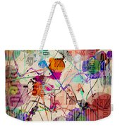 Abstract Expressionism Weekender Tote Bag