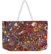 Abstract - Fabric Paint - Sanity Weekender Tote Bag by Mike Savad