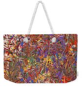 Abstract - Fabric Paint - String Theory Weekender Tote Bag by Mike Savad
