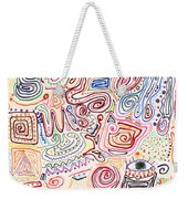 Abstract - Fabric Paint - Urban Society Weekender Tote Bag by Mike Savad