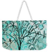 Abstract Floral Birds Landscape Painting Bird Haven II By Megan Duncanson Weekender Tote Bag
