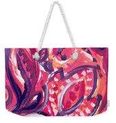 Abstract Floral Design Purple Note Weekender Tote Bag
