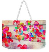 Abstract Floral  Weekender Tote Bag by Mark Ashkenazi