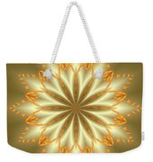 Abstract Flower In Gold And Silver Weekender Tote Bag