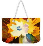 Abstract Flowers 2 Weekender Tote Bag