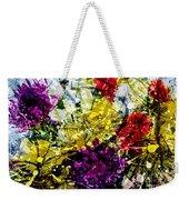 Abstract Flowers Messy Painting Weekender Tote Bag