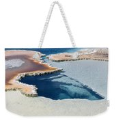 Abstract From The Land Of Geysers. Yellowstone Weekender Tote Bag