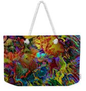 Abstract Fronds In Jewel Tones - Square Weekender Tote Bag
