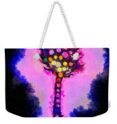 Abstract Glowball Tree Weekender Tote Bag by Pixel Chimp