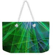Abstract Green Lights Weekender Tote Bag