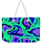 Abstract Green Purple Blue Weekender Tote Bag