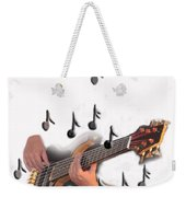 Abstract Guitar Player Weekender Tote Bag