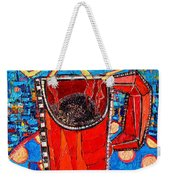 Abstract Hot Coffee In Red Mug Weekender Tote Bag