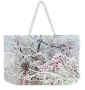 Abstract Ice Covered Shrubs Weekender Tote Bag