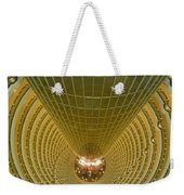 Abstract In Gold Weekender Tote Bag by Alan Socolik