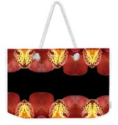 Nature In Abstract Orchid Square Weekender Tote Bag