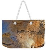 Abstract In Old Wood Weekender Tote Bag