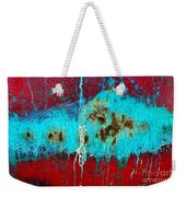 Abstract In Red 6 Weekender Tote Bag