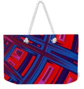 Abstract In Red And Blue Weekender Tote Bag