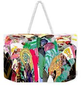 Abstract Inca Warriors Past Present And Future Weekender Tote Bag
