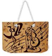 Abstract Jazz Music Coffee Painting Weekender Tote Bag
